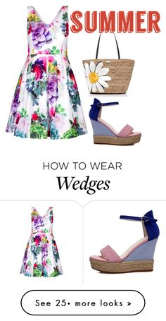 """summer"" by blue4828 on Polyvore featuring City Chic, Kate Spade and summersandals"