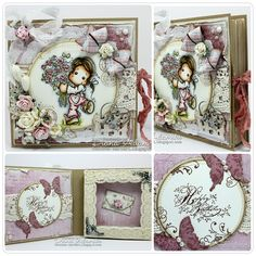 Book Card created by LLC DT Member Diana DeeDee Adamski. Papers from Maja Design's Coffee in the Arbour collection. Sentiment from Stempelglede.