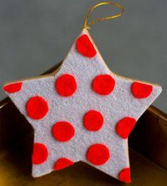 Polka Dot Star Ornament