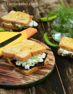 Lettuce adds crunch to these paneer sandwiches, a no-cooking tiffin treat that's quick and easy to make. Nourishing and filling, the sandwiches can also be eaten on the go! for variation you can replace suva with coriander.