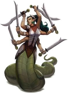 A marilith named Marilis, a powerful fiend sent by an archdevil to assist Nalavara. The party bravely faced it down during the Battle for Suzail, managing to weaken and blind it while healing Caladnei. With the Lion Tower's defenses activated by the Royal Mage, the marilith became trapped and was slain. It returned during the Battle for Telflamm, where it was again defeated. (Enemy NPC, reconstituting in the lower planes)