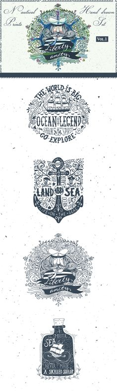 Sailor Spirit   Nautical collection Vol.1 on Behance