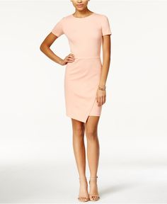 $69 Bar III Envelope-Hem Sheath Dress - Bar III - Women - Macy's