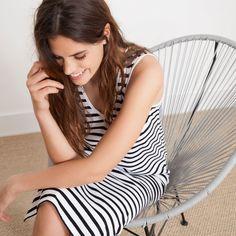 Maxi vestido rayas - Colección - Beach Collection | Zara Home España Collection Zara, Zara Home España, Holiday Wardrobe, Stripes Fashion, Striped Maxi Dresses, Zara Dresses, Beachwear, Hair Beauty, Summer 2016