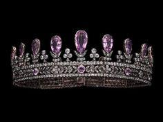 Pink topaz tiara.