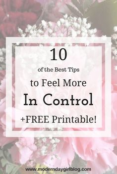 What can you do to feel more in control? How do you take back control of your life? Improve your well-being and mental health by following these tips!