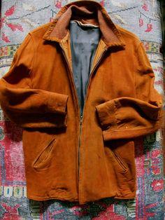 Rust Suede Jacket, Vintage Beat Generation Suede Jacket, Unisex 40s Suede Jacket, Vagabond Jacket, Mid Century Suede Coat, Hippie Jacket