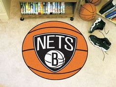 "NBA - Brooklyn Nets Basketball Mat 27"""" diameter"