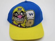 Nintendo Super Mario Wario Blue Youth Childrens Size Bioworld Snapback Hat Cap  #Bioworld #BaseballCap  #Nintendo Super Mario Wario