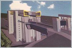 Schiffshebewerk Niederfinow Nord, der Neubau - Schorfheide-Chorin nördlich v. Berlin - INFOTHEK