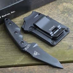 Ka-Bar TDI Hinderer Hellfire Recurve Tanto Fixed Blade Tactical Knife 2486