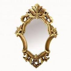 Espejo clásico barroco vintage ovalado oro en Nuryba.com tu tienda de muebles y decoracion online