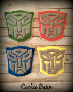 Transformers Birthday Decorated Cookies