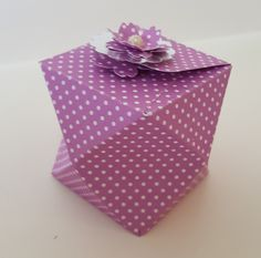 Hi, friends! Today Project is Faceted Box Closed with Magnet, for small gifts, chocolates. (Using Gift Bag Punch Board). Cardstock me...