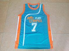 8f25dd8aa2e SexeMara Flint Tropics Semi Pro Movie Throwback Basketball Jerseys,#7  Coffee Blue Stitched Movie jersey Free Shipping-in Basketball Jerseys from  Sports ...
