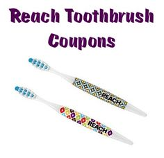 Reach Toothbrush Coupons: $1.00 off 1 and $2.00 off 2!