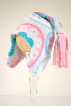 Baby Pixie Hat Baby Blue Girls  Fleece 03 by OgsploshAccessories, $18.00