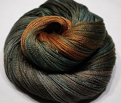 "Hand Dyed Mulberry Silk, Lace weight, "" Chestnut """