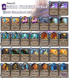 Snuxxi is trying to revive the Aggro Mage archetype! Find his guide through our website: hearthdecko.com #Hearthstone