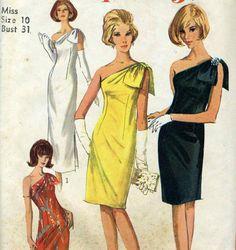 Vintage Simplicity 6263 CUT Misses Dramatic One by RomasMaison, $34.00