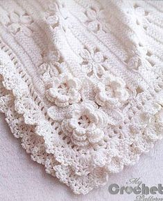 white crochet blanket for babies