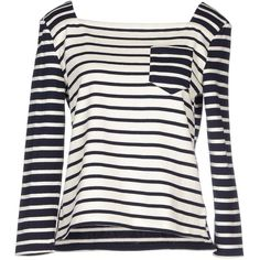 Petit Bateau Jumper ($79) ❤ liked on Polyvore featuring tops, sweaters, white, side slit sweater, white long sleeve jumper, cotton sweater, striped sweater and lightweight sweaters