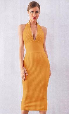 Cortney Halter Bandage Dress
