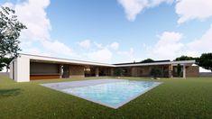 Casa da meia via casas modernas por miguel zarcos palma moderno | homify Outdoor Decor, Home Decor, Townhouse, Design Ideas, Swimming Pools, Sock, Modern Houses, Facades, Trendy Tree