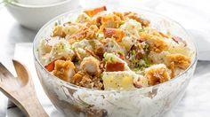 Chicken Bacon Ranch Potato Salad - add shredded cheddar cheese!!