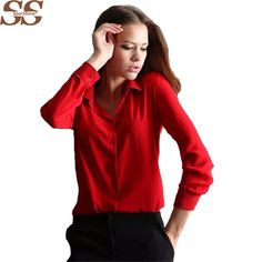 cdc7974c54554 5 Colors Work Wear 2017 Women Shirt Chiffon Blusas Femininas Tops Elegant  Ladies Formal Office Blouse 3XL Solid Shirt Women-in Blouses   Shirts from  Women s ...