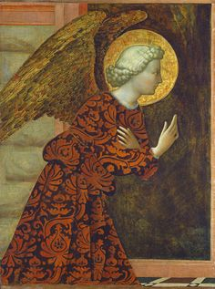 Angel; Wings; Halo; Annunciation; Renaissance; Messenger Painting -  The Archangel Gabriel by Tommaso Masolino da Panicale