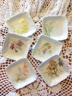 Butter Pat Dish Antique Haviland & Co China by LittleDixieVintage