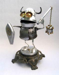 Alrik - Found Object Robot by adoptabot.deviantart.com on @deviantART