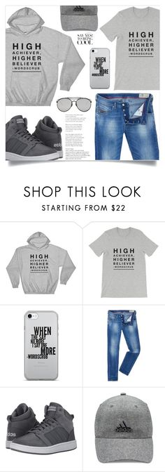 """""""Men's stuff, (38)"""" by samra-bv ❤ liked on Polyvore featuring Diesel, adidas, Gentle Monster, men's fashion and menswear"""