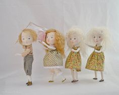 Original girl art dolls by Paola Zakimi