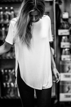 Live In Slouchy Tee - White