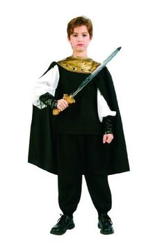 Child's Medieval Knight Costume Size Medium (8-10) by RG Costumes. $32.99. Includes Shirt w/Vinyl Cuffs, Pants, Cape w/Collar. Sword and Shoes not included.