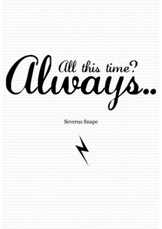Harry Potter Poster Severus Snape 'Always' A3 by BKSdesignandprint, £6.00