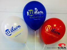 Here are some amazing balloons we have printed for Wilson Law Firm, P.L.