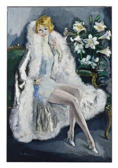 Kees van Dongen, 'L'Actrice Lili Damita' (Portrait of Lili Damita, the Actress)  on ArtStack #kees-van-dongen #art