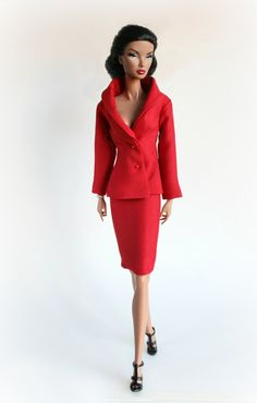 Red Suit for Barbie Silkstone Fashion Royalty by ChicBarbieDesigns