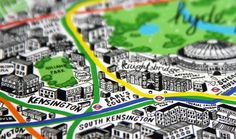 Mapping illustration by Jenni Sparks - Map of London