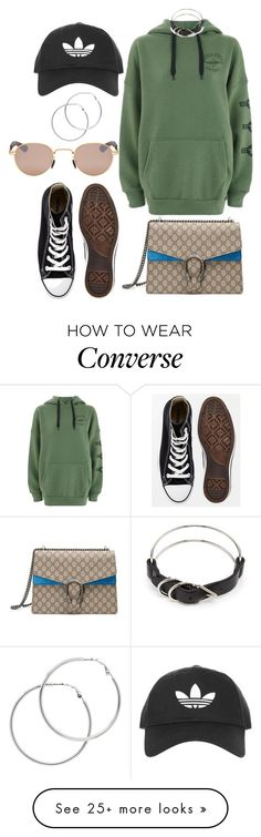 """""""Untitled #717"""" by veronice-lopez on Polyvore featuring Topshop, Converse, Gucci, Mykita, Melissa Odabash and Alexander Wang"""