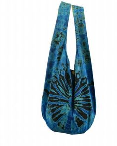 BTP Tie Dye Sling Crossbody Shoulder Bag Purse Hippie Hobo Cotton Bohemian Colorful Firework Blue VJ2 * You can find out more details at the link of the image.