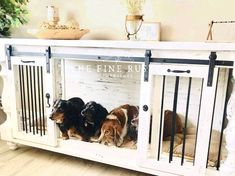 Rustic Buffet, Rustic Kitchen Tables, Farmhouse Buffet, Antique Buffet, Farmhouse Furniture, Rustic Farmhouse, Double Dog Crate, Pub Height Table, Custom Dog Kennel
