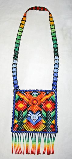 Huichol Tribal Necklace Huichol Shaman by BiuluArtisanBoutique