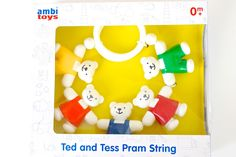 Uk family lifestyle blog ted and tess pram string from ambi 174 toys