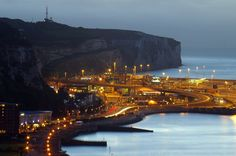 Rain at Dawn for Space City, White Cliffs of Dover, Kent, England, United Kingdom