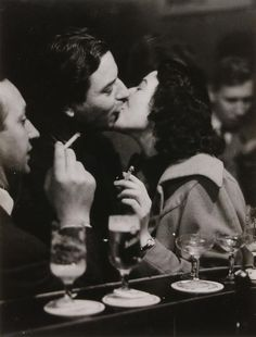 Chargesheimer, At the Bar/Kissing Couple, Cologne, about 1956