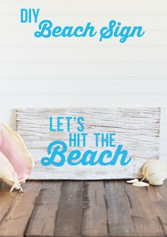 DIY Beach Sign